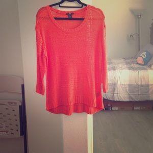 Orange light weight sweater